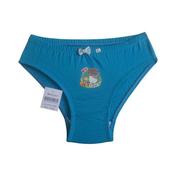 شورت دخترانه حجت طرح Hello Kitty کد KI-20385 رنگ آبی