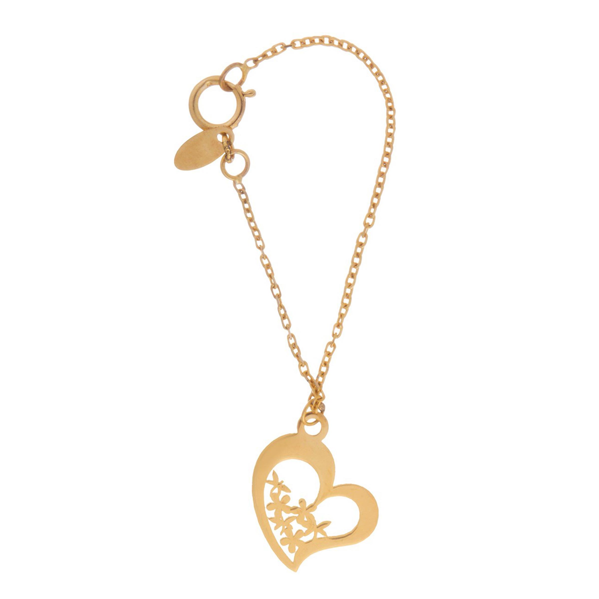 آویز ساعت طلا 18 عیار زنانه طرح قلب کد SG349