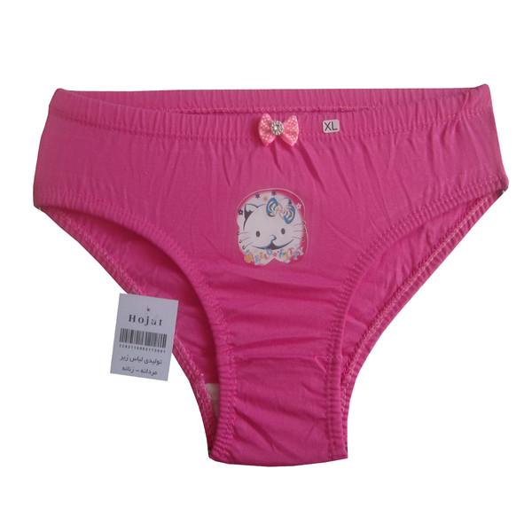 شورت دخترانه حجت طرح Hello Kitty کد KI-20387 رنگ صورتی