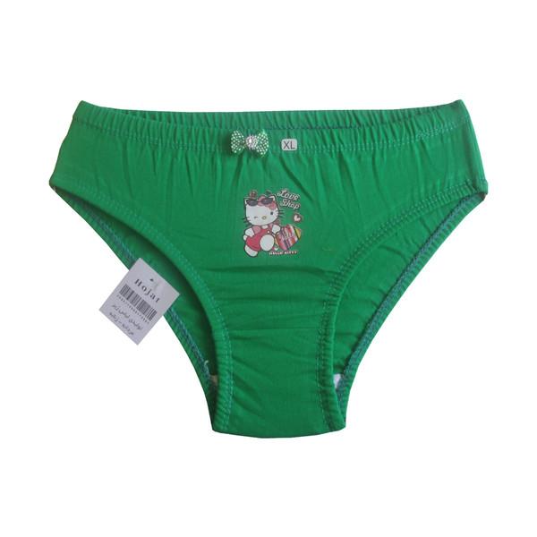 شورت دخترانه حجت طرح Hello Kitty کد KI-20388 رنگ سبز