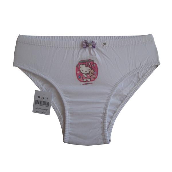 شورت دخترانه حجت طرح Hello Kitty کد KI-20390 رنگ سفید