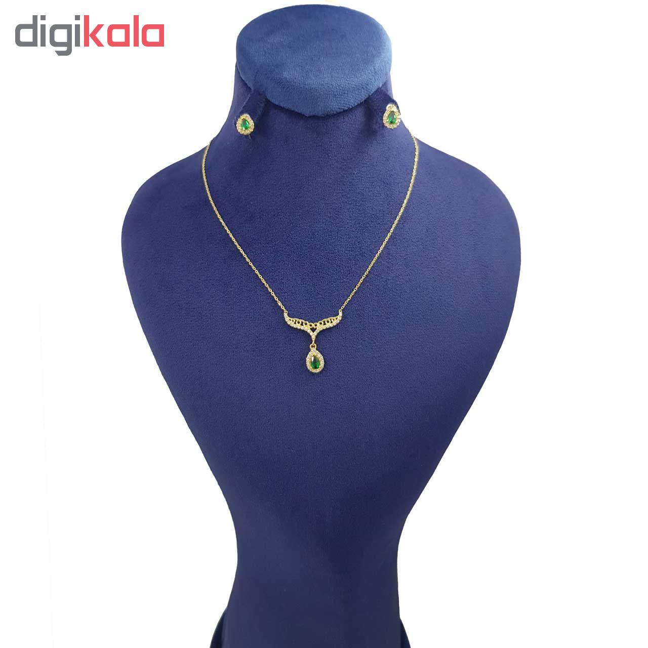 نیم ست طلا 18 عیار زنانه کانیار گالری کد NA3