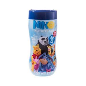 دستمال مرطوب کودک نینو مدل Nutritious بسته 75 عددی