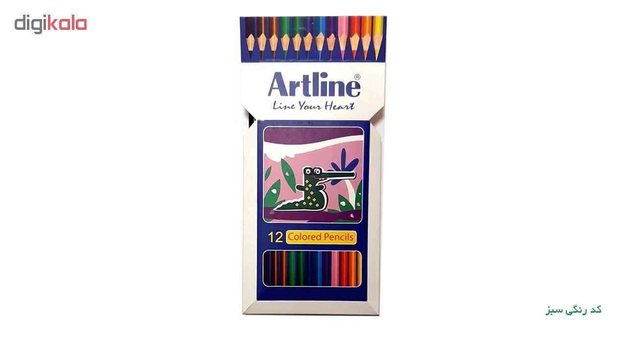 مداد رنگی 12 رنگ آرت لاین مدل ECP12-P/IL main 1 1