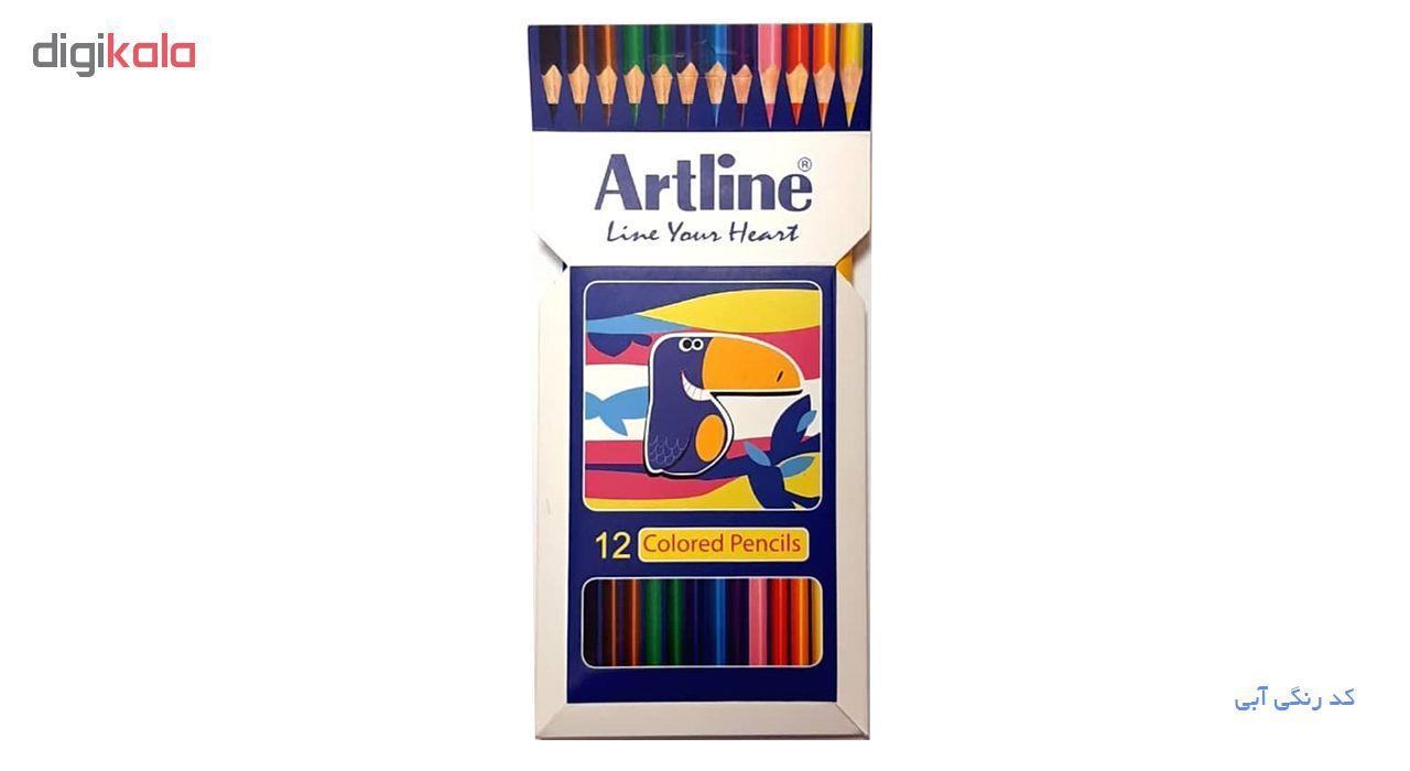 مداد رنگی 12 رنگ آرت لاین مدل ECP12-P/IL main 1 3