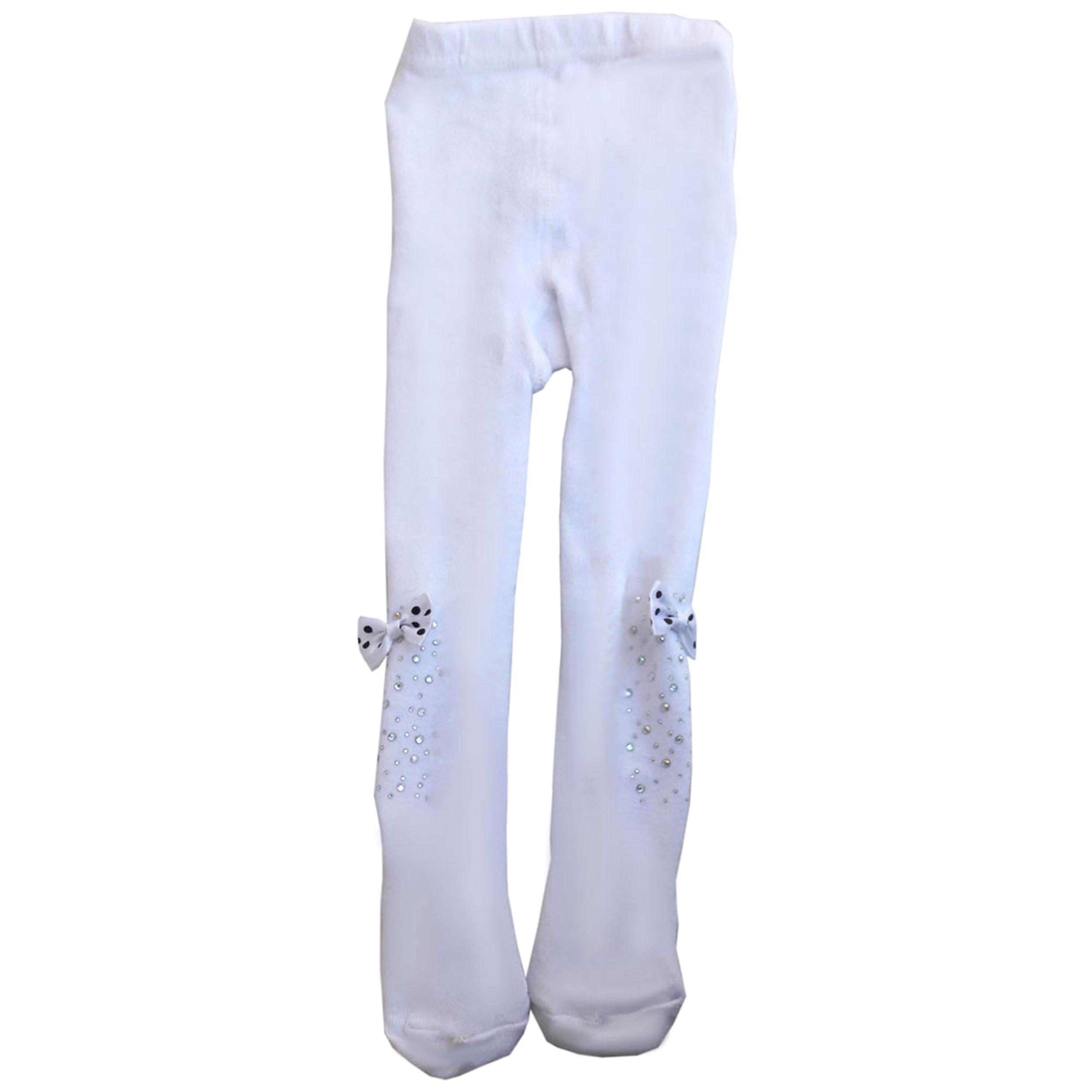 جوراب شلواری دخترانه طرح پاپیون کد 44
