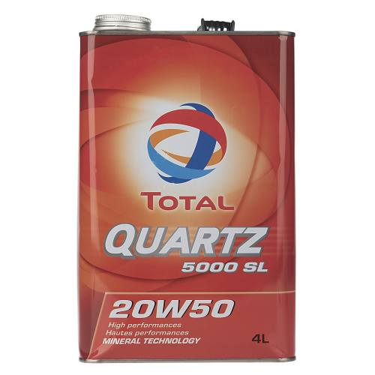 روغن موتور خودرو توتال مدل Quartz 5000 SL حجم 4 لیتر