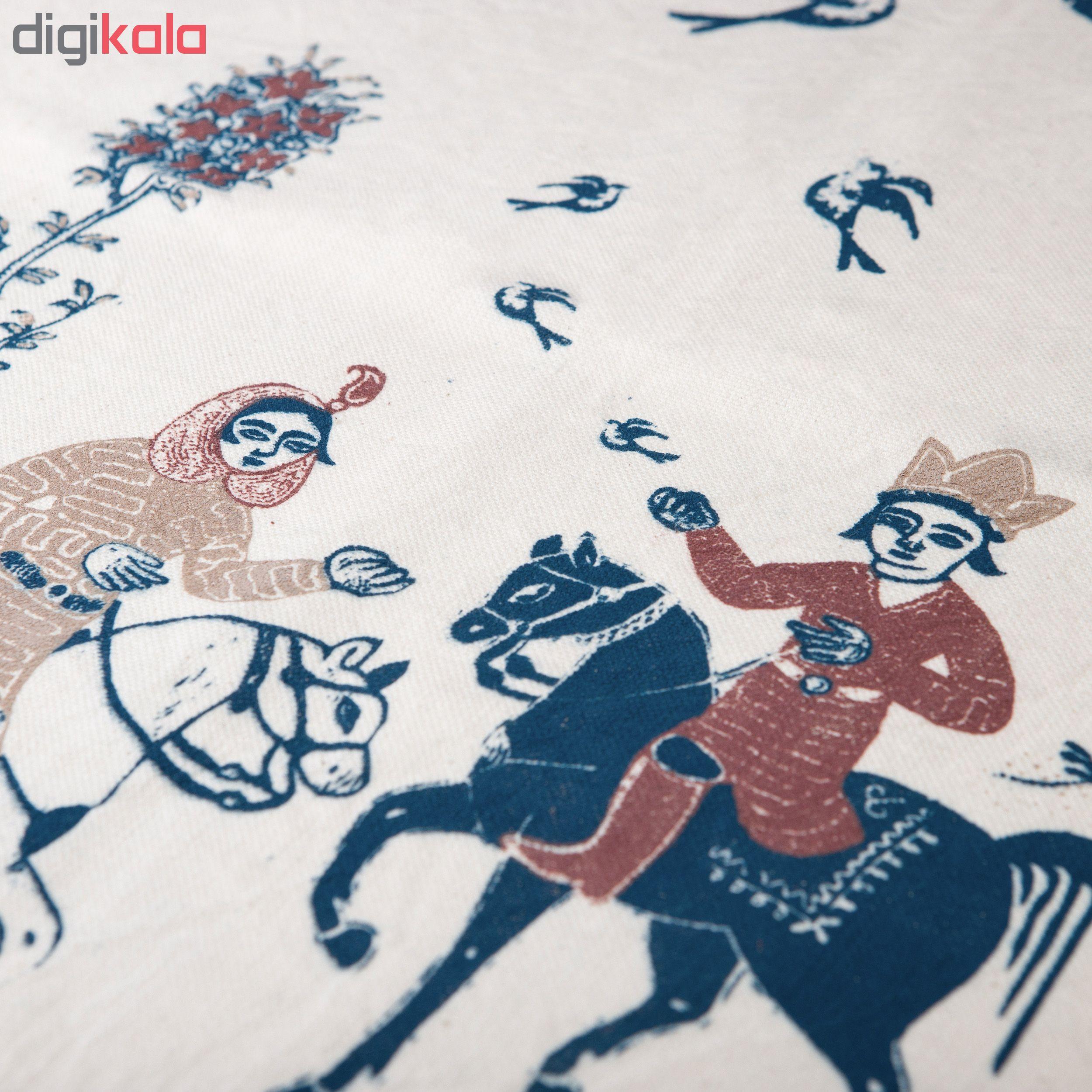 خرید                      رومیزی چاپ دستی گالری گدار طرح بهرام و آزاده