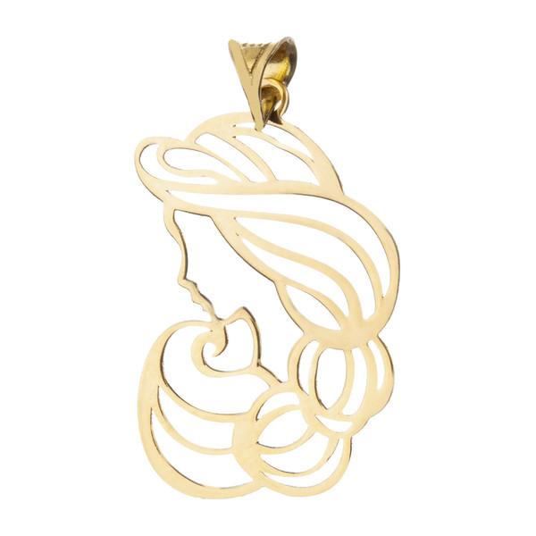 آویز گردنبند طلا 18 عیار زنانه میو گلد مدل N207