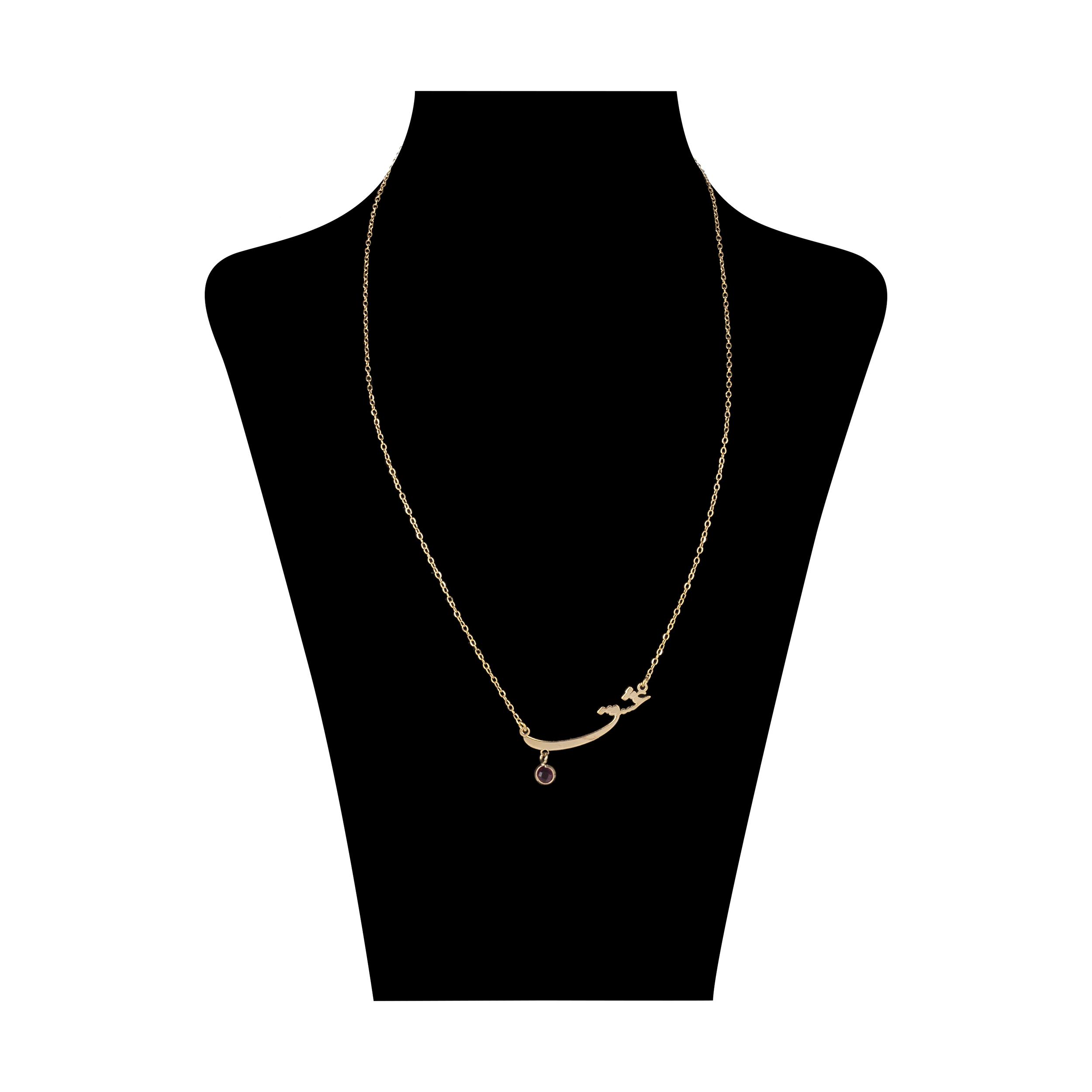 گردنبند طلا 18 عیار زنانه میو استار مدل NC136