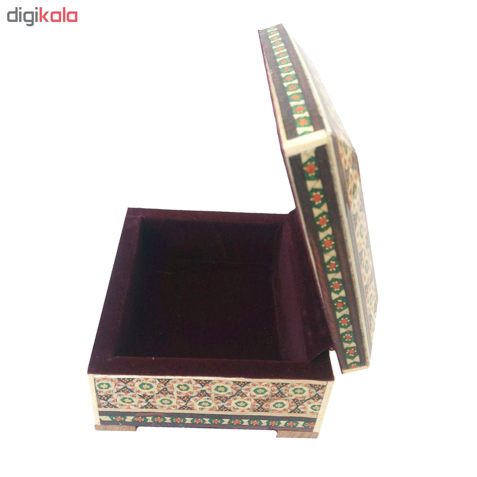 خرید                      جعبه جواهرات خاتم کاری کد KH0110
