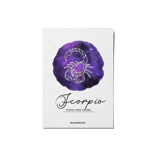 کارت پستال ماسا دیزاین طرح ماه تولد آبان کد POST101