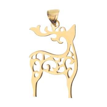آویز گردنبند طلا 18 عیار زنانه میو گلد مدل N205