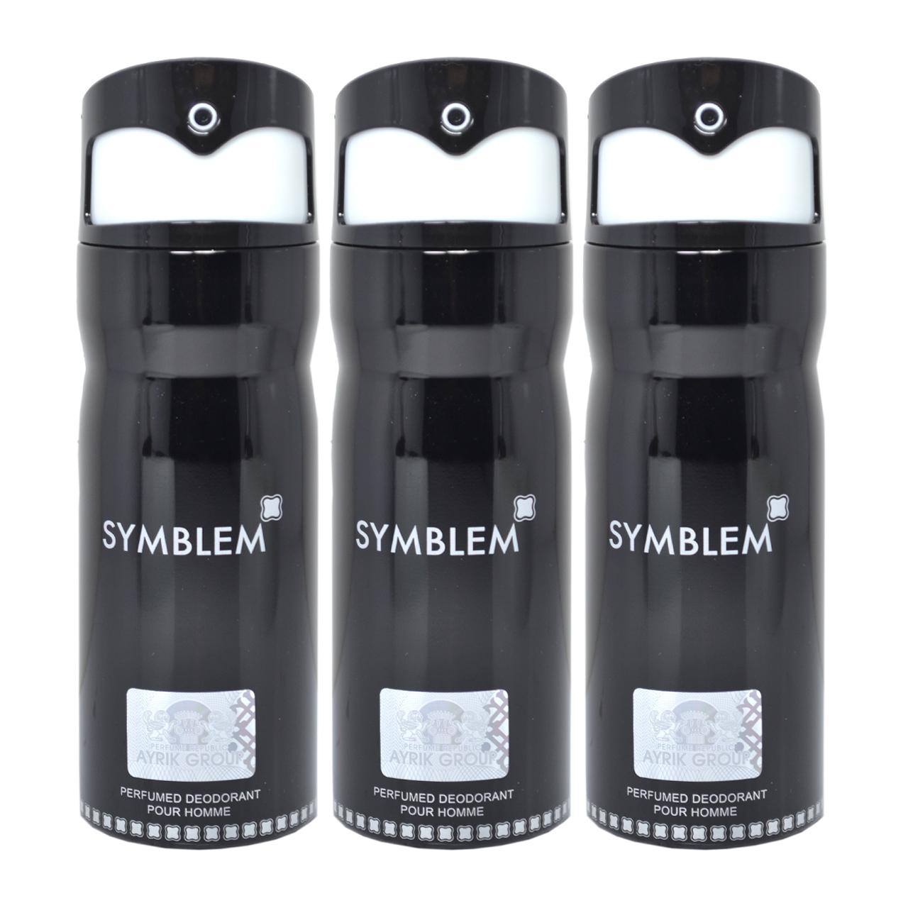 اسپری خوشبو کننده بدن مردانه مای پرفیومز مدل Symblem حجم 150 میلی لیتر مجموعه 3 عددی