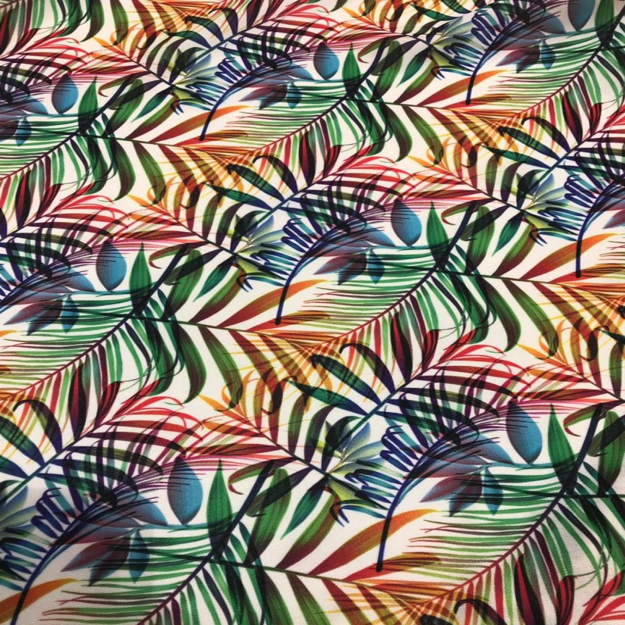 پارچه لباسی طرح برگ رنگی کد 1088