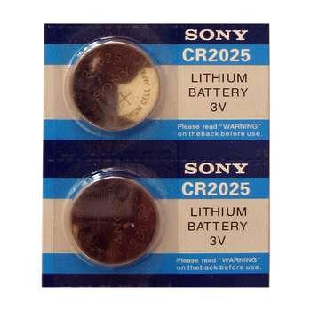 باتری سکه ای سونی مدل CR2025 بسته 2 عددی