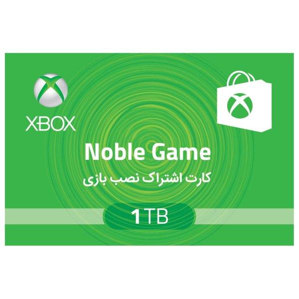 کارت اشتراک نصب بازی نوبل گیم مناسب برای ایکس باکس وان اس 1 ترابایت