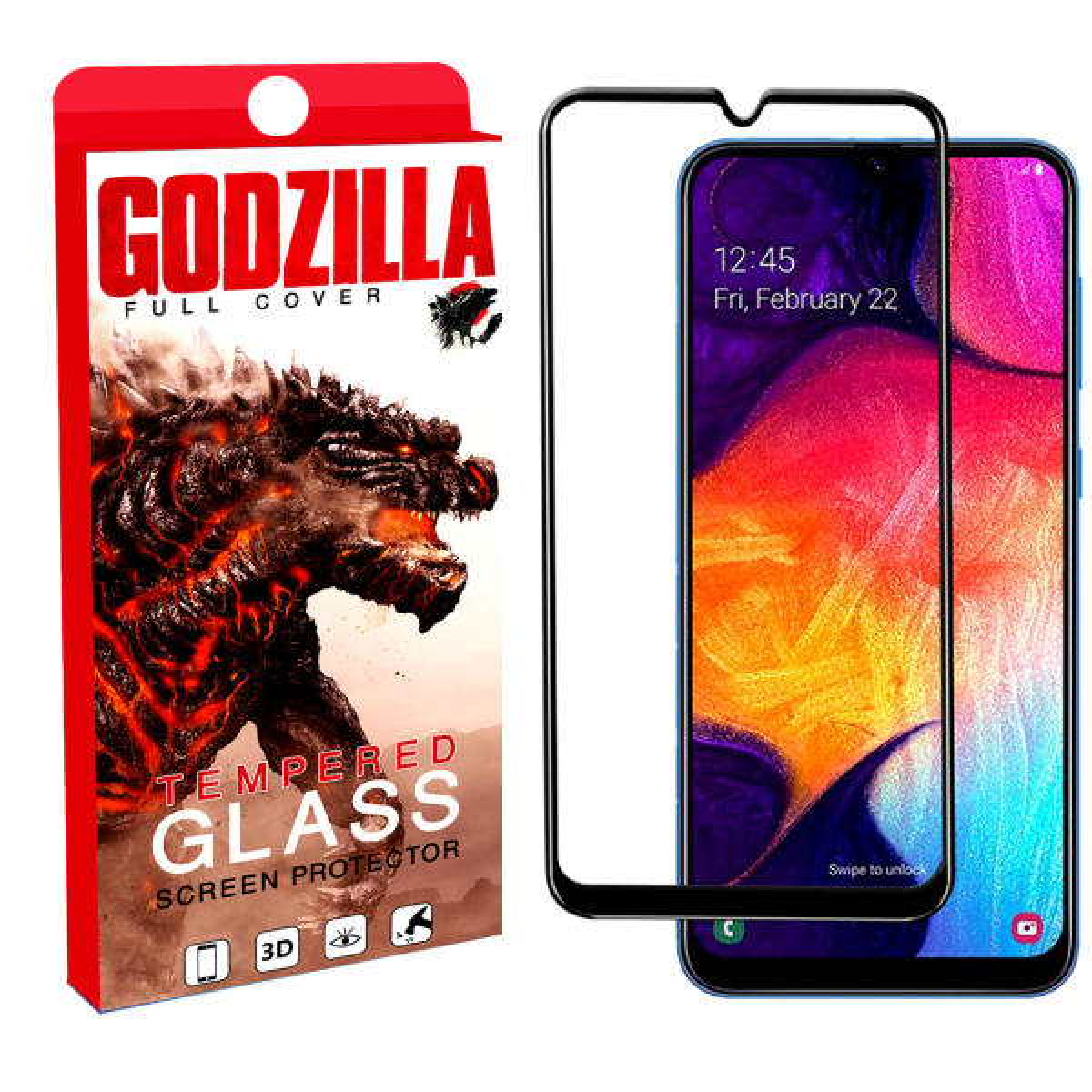 محافظ صفحه نمایش گودزیلا مدل A4 مناسب برای گوشی موبایل سامسونگ Galaxy A40