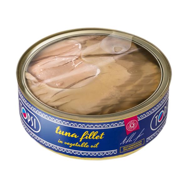 کنسرو ماهی فیله تن در روغن گیاهی تاپسی - 240 گرم