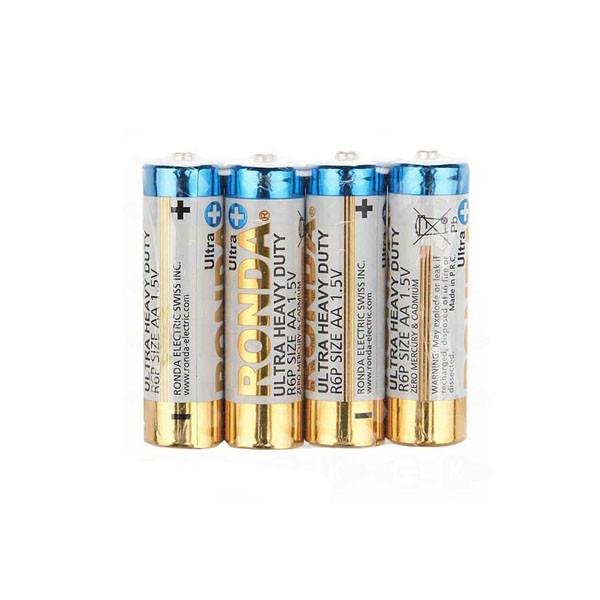باتری نیم قلمی روندا مدل Ultra Heavy Duty بسته 4 عددی