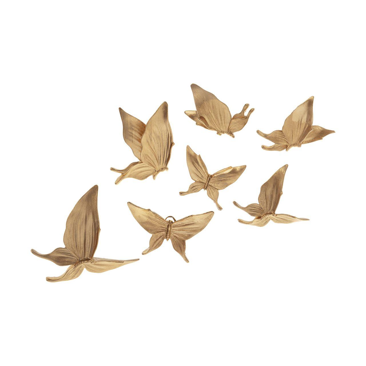 دیوارکوب لوتوس طرح پروانه کد P01 مجموعه 7 عددی