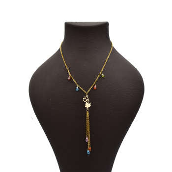 گردنبند طلا 18 عیار زنانه آرشا گالری طرح پروانه کد 425A2484