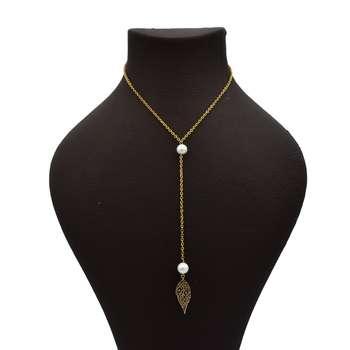 گردنبند طلا 18 عیار زنانه آرشا گالری طرح برگ کد 427A2486