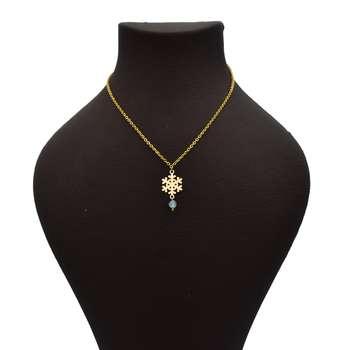 گردنبند طلا 18 عیار زنانه آرشا گالری طرح برف کد 428A2487