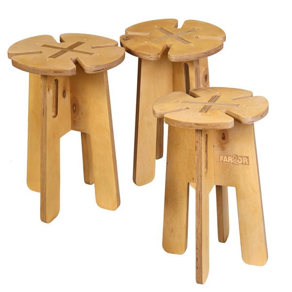 چهارپایه فرتور مدل shabdar مجموعه 3 عددی
