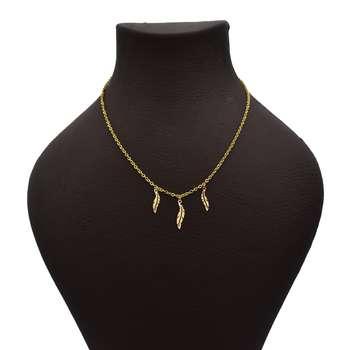 گردنبند طلا 18 عیار زنانه آرشا گالری طرح برگ کد 431A2490