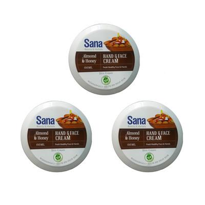 کرم مرطوب کننده سنا مدل Almond & Honey حجم 150 میلی لیتر مجموعه 3 عددی