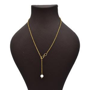 گردنبند طلا 18 عیار زنانه آرشا گالری طرح بینهایت کد 433A2492