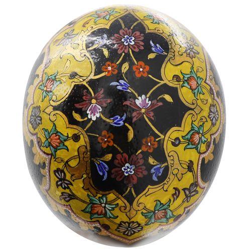 تخم شتر مرغ تزیینی مدل tazhib5