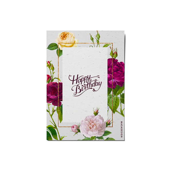 کارت پستال ماسا دیزاین طرح تبریک تولد کد POST122