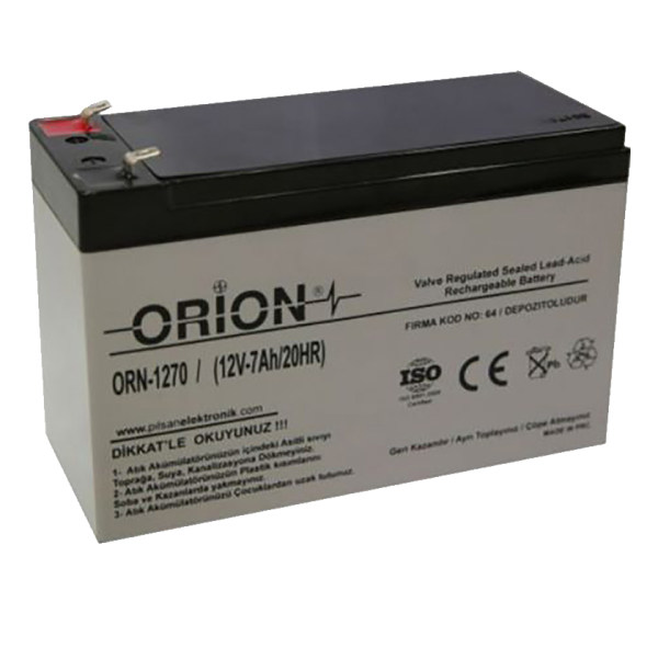 باتری یو پی اس 12 ولت 7 آمپر ساعت اوریون مدل ORN1270
