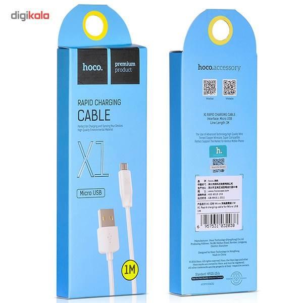 کابل تبدیل USB به microUSB هوکو مدل X1 Rapid طول 1 متر main 1 3