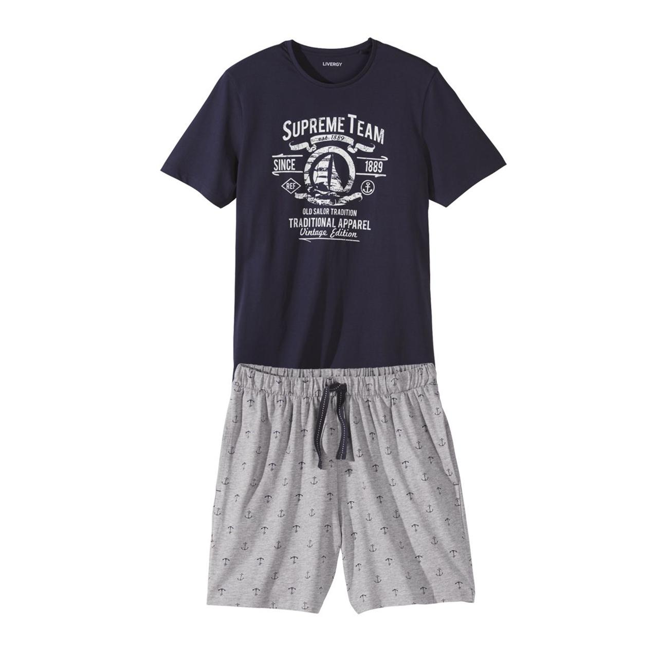 ست تی شرت و شلوارک مردانه لیورجی مدل Supreme Team