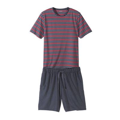 ست تی شرت و شلوارک مردانه لیورجی مدل Strip