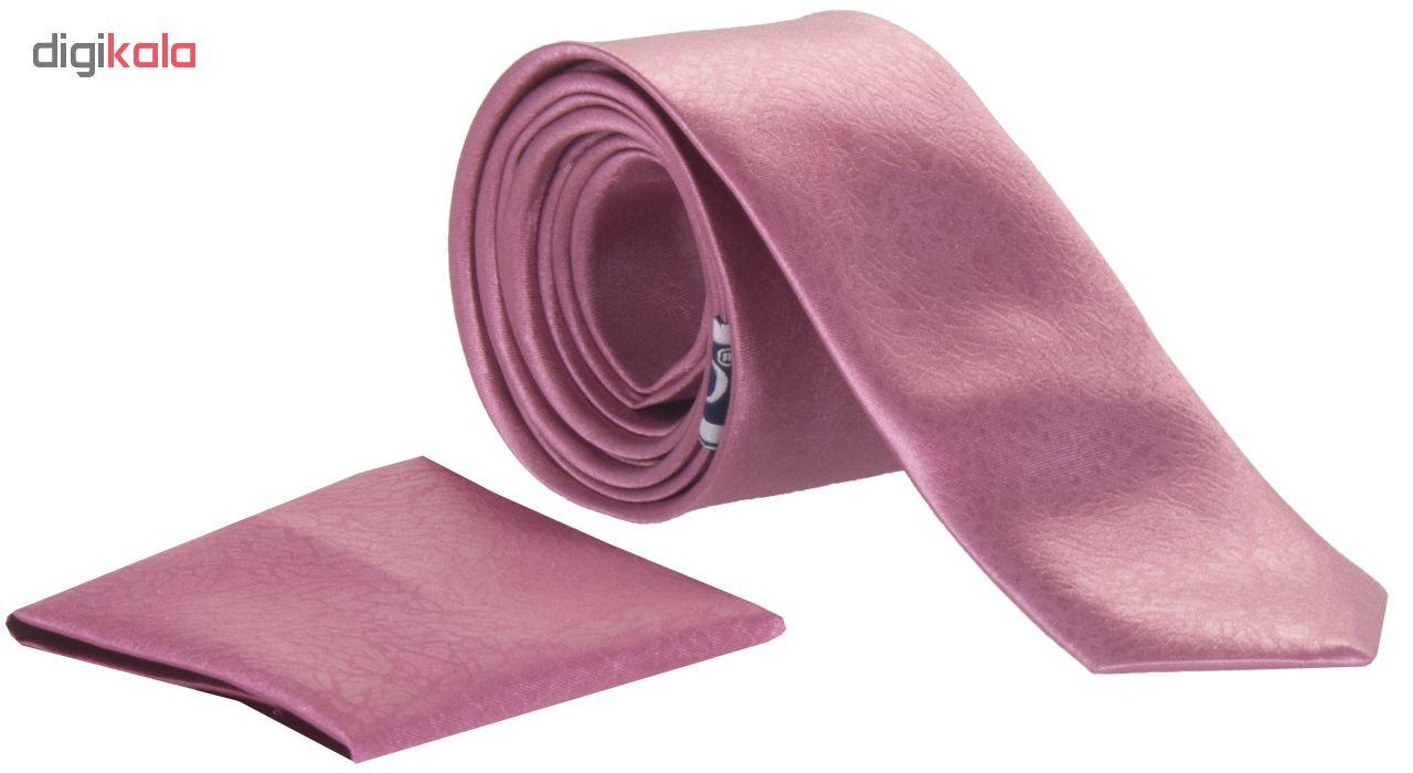 ست کراوات و دستمال جیب مردانه کد 7125