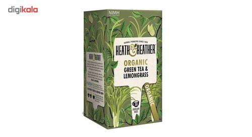 بسته دمنوش هیت و هیتر مدل Organic Green Tea and Lemongrass