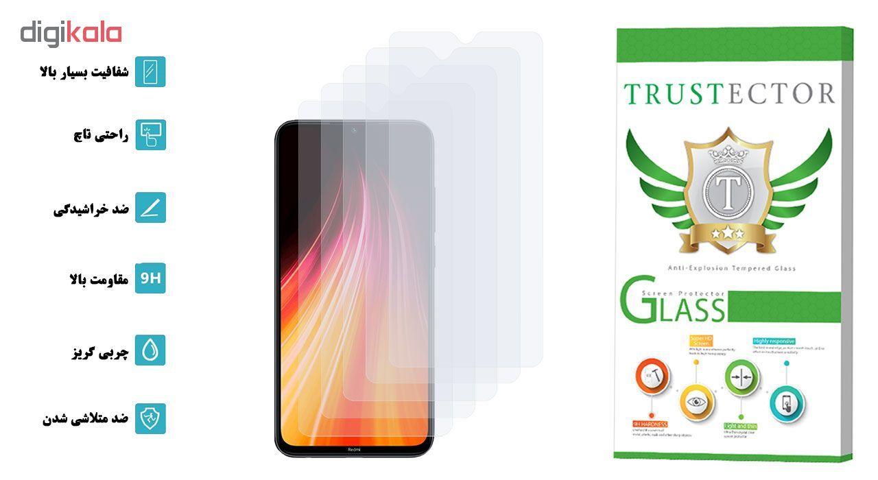 محافظ صفحه نمایش تراستکتور مدل GLS مناسب برای گوشی موبایل شیائومی Redmi Note 8 بسته 5 عددی main 1 2