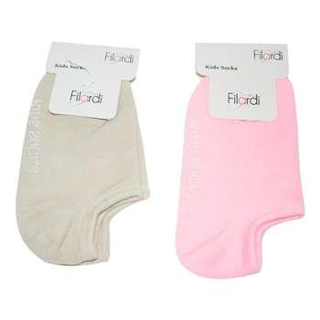 جوراب دخترانه  فیلاردی کد KS مجموعه 2 عددی