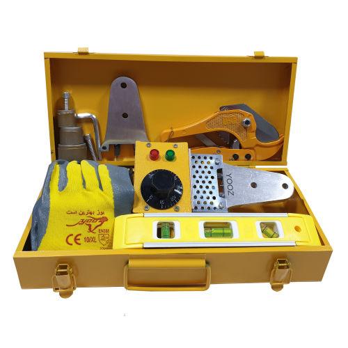 مجموعه 11 عددی ابزار و دستگاه جوش لوله سبز یوز کد YZT750