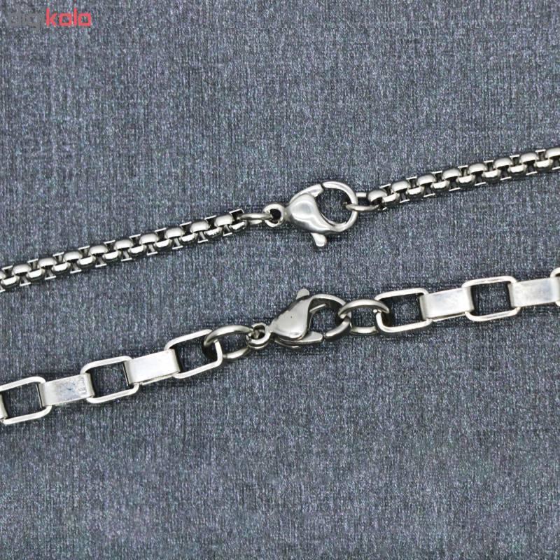 زنجیر مردانه کد ab0101 مجموعه 2 عددی