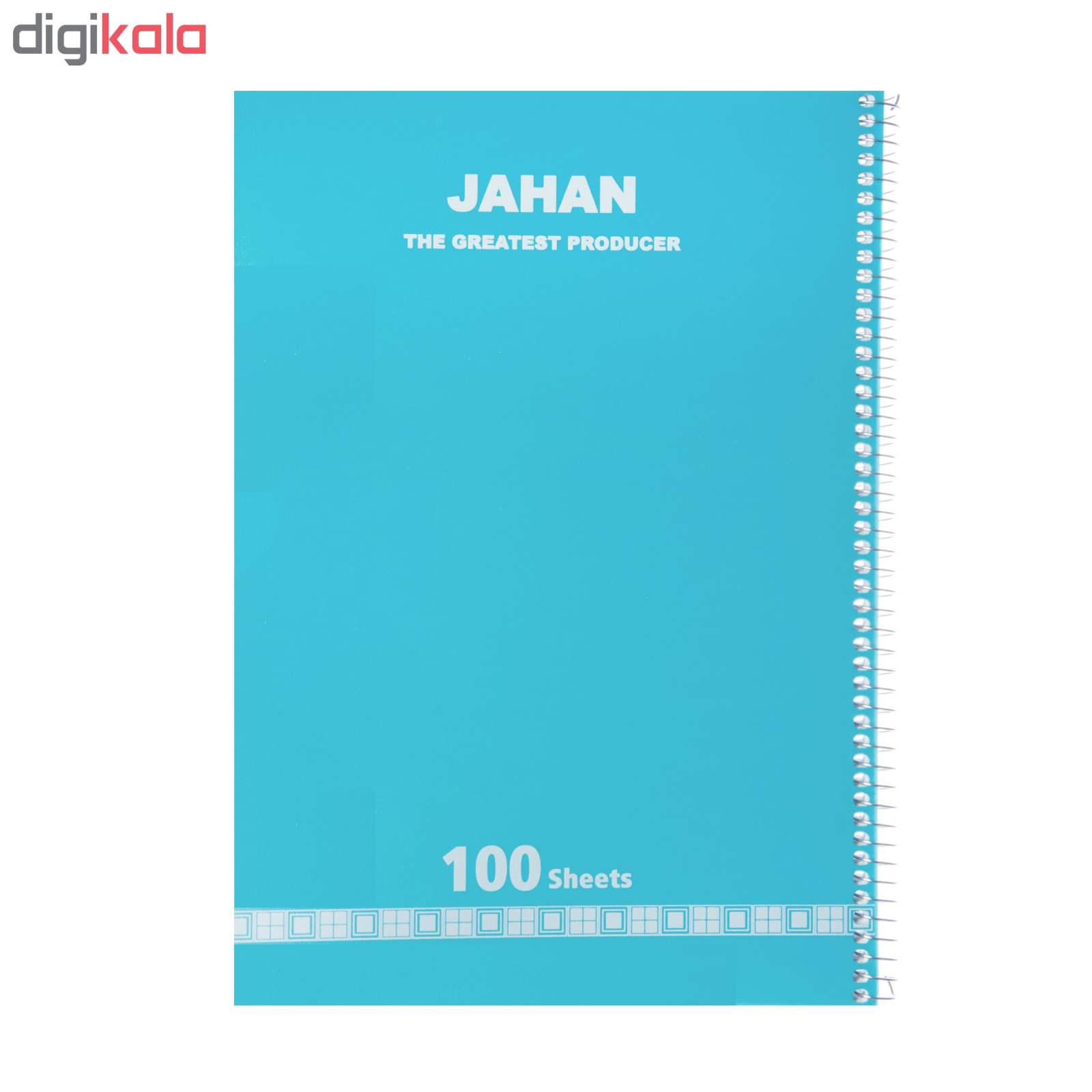 دفتر مشق 100 برگ جهان کد 100JTH99MOR main 1 6