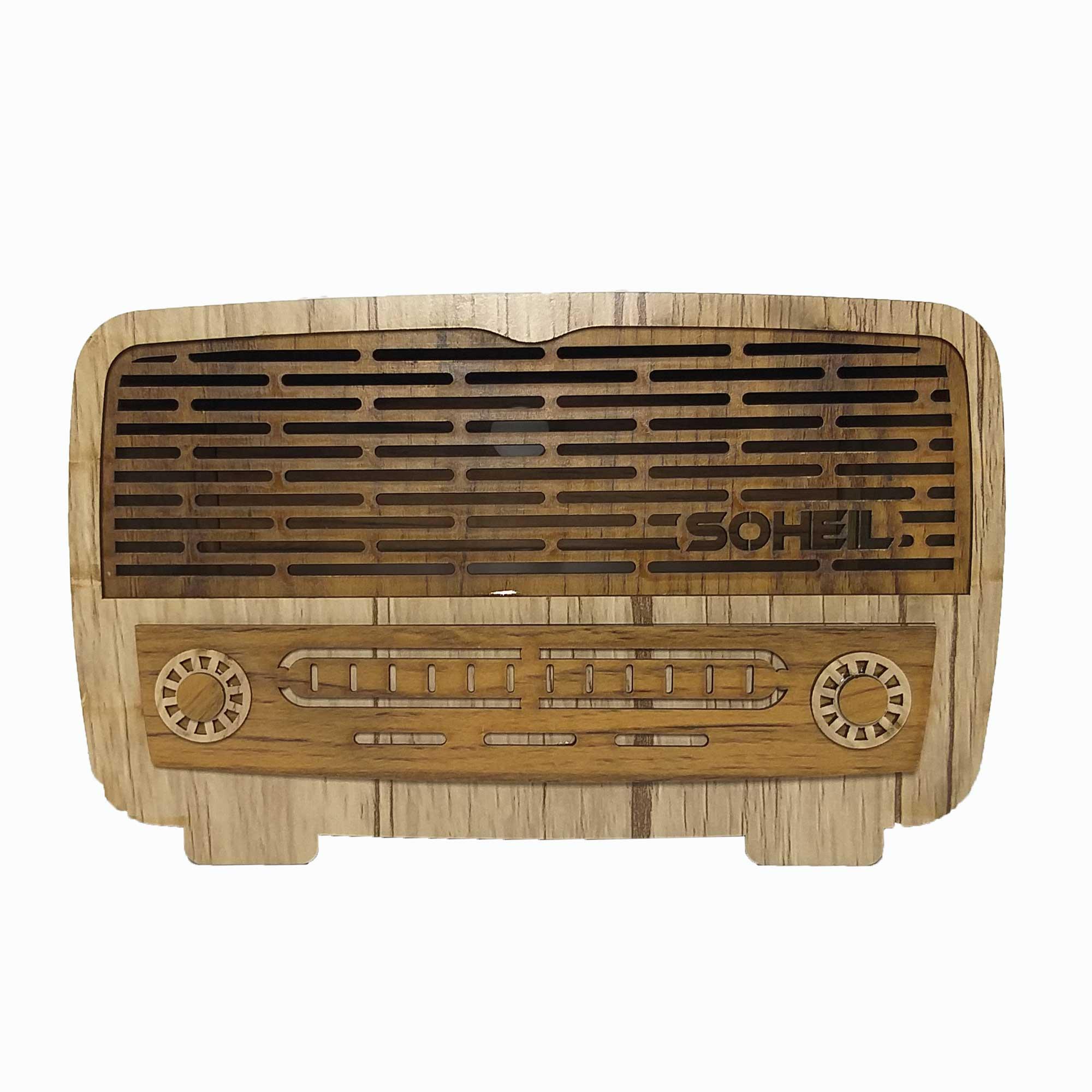 جعبه دستمال کاغذی طرح رادیو کد 498