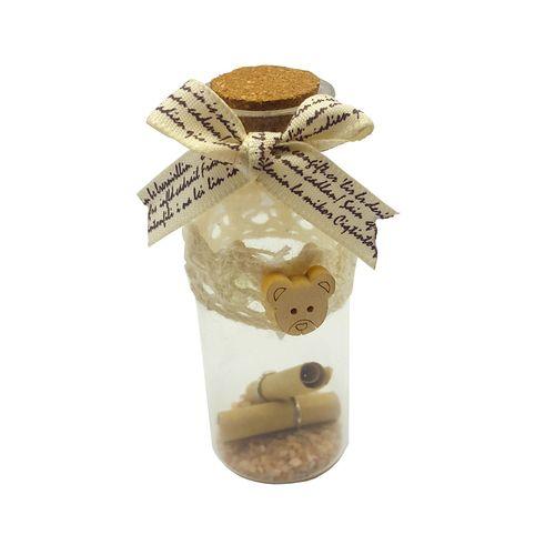 بطری دکوری طرح خرسی مدل VAN001