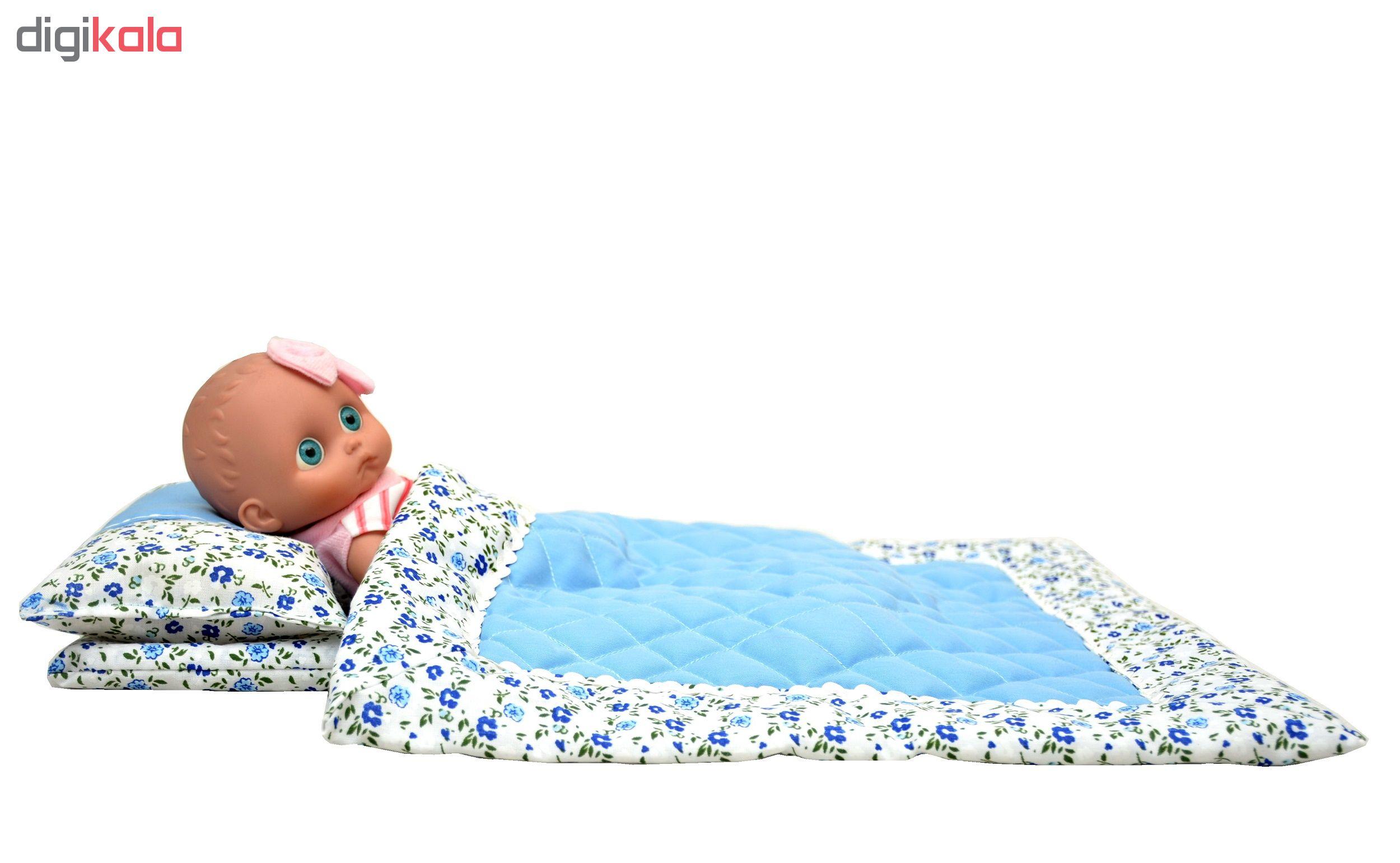 سرویس خواب عروسک دستان مدل نی نی لالا مجموعه 3 عددی