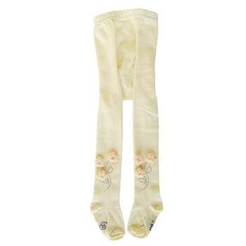 جوراب شلواری دخترانه کد 2200 رنگ زرد