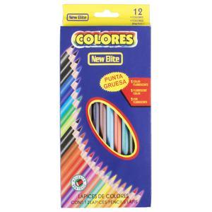 مداد رنگی 12 رنگ نیو الیت مدل Colores